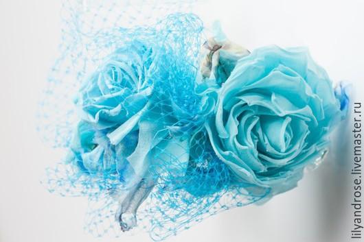 Свадебные украшения ручной работы. Ярмарка Мастеров - ручная работа. Купить Ободок с розами. ободок с цветами. цветы на ободке.. Handmade.