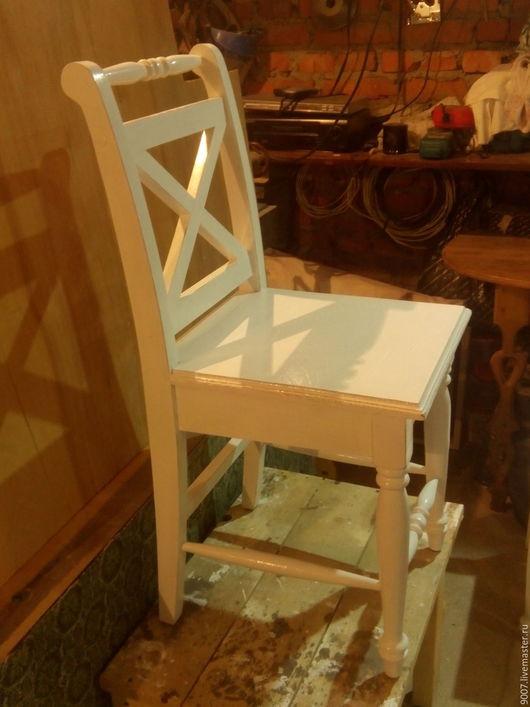 Мебель ручной работы. Ярмарка Мастеров - ручная работа. Купить стул в столовую,в стиле прованс. Handmade. Белый, акриловые краски