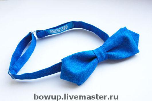 Воротнички ручной работы. Ярмарка Мастеров - ручная работа. Купить Ретро галстук-бабочка. Handmade. Праздник, синий, галстук-бабочка
