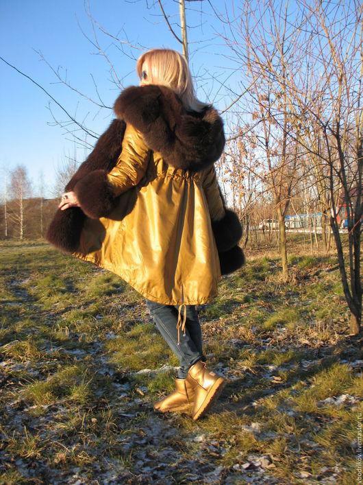 """Верхняя одежда ручной работы. Ярмарка Мастеров - ручная работа. Купить Куртка-парка """" Чистое золото """". Handmade."""