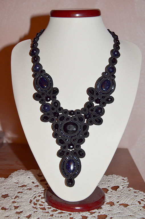Necklaces & Beads handmade. Livemaster - handmade. Buy Soutache necklace 'Night before Christmas' -the options.Necklaces, agate