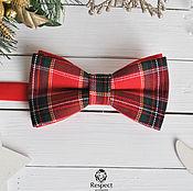 Аксессуары handmade. Livemaster - original item Tie red plaid Tartan/ Christmas tie necktie. Handmade.