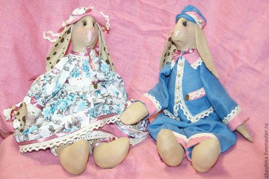 Ароматизированные куклы ручной работы. Ярмарка Мастеров - ручная работа. Купить Кролики Агата и Мирон. Handmade. Бежевый, зайцы, кролик
