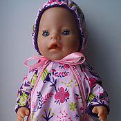 Куклы и игрушки ручной работы. Ярмарка Мастеров - ручная работа Прогулочный комбинезон для беби бона (baby born) девочки. Handmade.