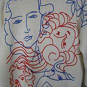 Одежда ручной работы. Ярмарка Мастеров - ручная работа Джемпер с вышивкой по мотивам известного художника.. Handmade.