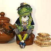 Dolls handmade. Livemaster - original item frog. Textile interior doll.. Handmade.