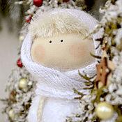 Куклы и игрушки ручной работы. Ярмарка Мастеров - ручная работа СНЕГУРОЧКА текстильная куколка. Handmade.