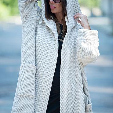 Clothing handmade. Livemaster - original item Spring knitted vest with hood and pockets - VE0042WK. Handmade.