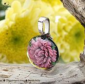 Украшения ручной работы. Ярмарка Мастеров - ручная работа Розовая роза - кулон линза лэмпворк - имплозия. Handmade.