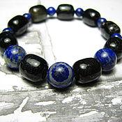 Украшения handmade. Livemaster - original item Bracelet with lapis lazuli and tourmaline