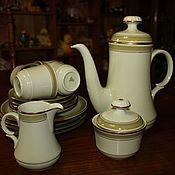 Винтаж handmade. Livemaster - original item Rare color delicate tea set for 4 persons, Jaeger, Germany. Handmade.