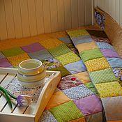 Для дома и интерьера ручной работы. Ярмарка Мастеров - ручная работа Лоскутное одеяло Лавандовый Мед пэчворк. Handmade.