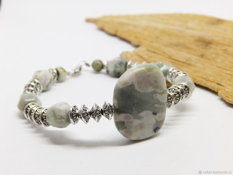 Bracelet with bovenite whale-river (2), Bead bracelet, Gatchina,  Фото №1