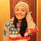 Одежда handmade. Livemaster - original item Tunic hooded American flag. Handmade.