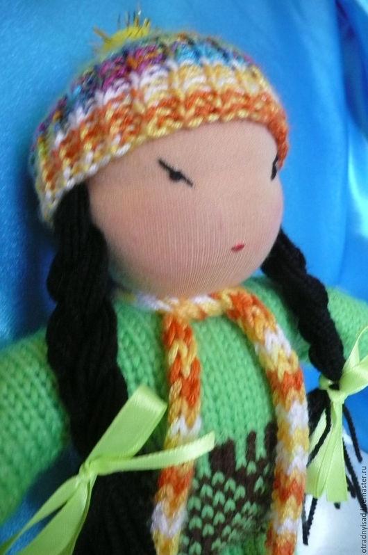 Вальдорфская игрушка ручной работы. Ярмарка Мастеров - ручная работа. Купить Кукла в вязаном комбинезоне Арюна. Handmade. Вальдорская кукла