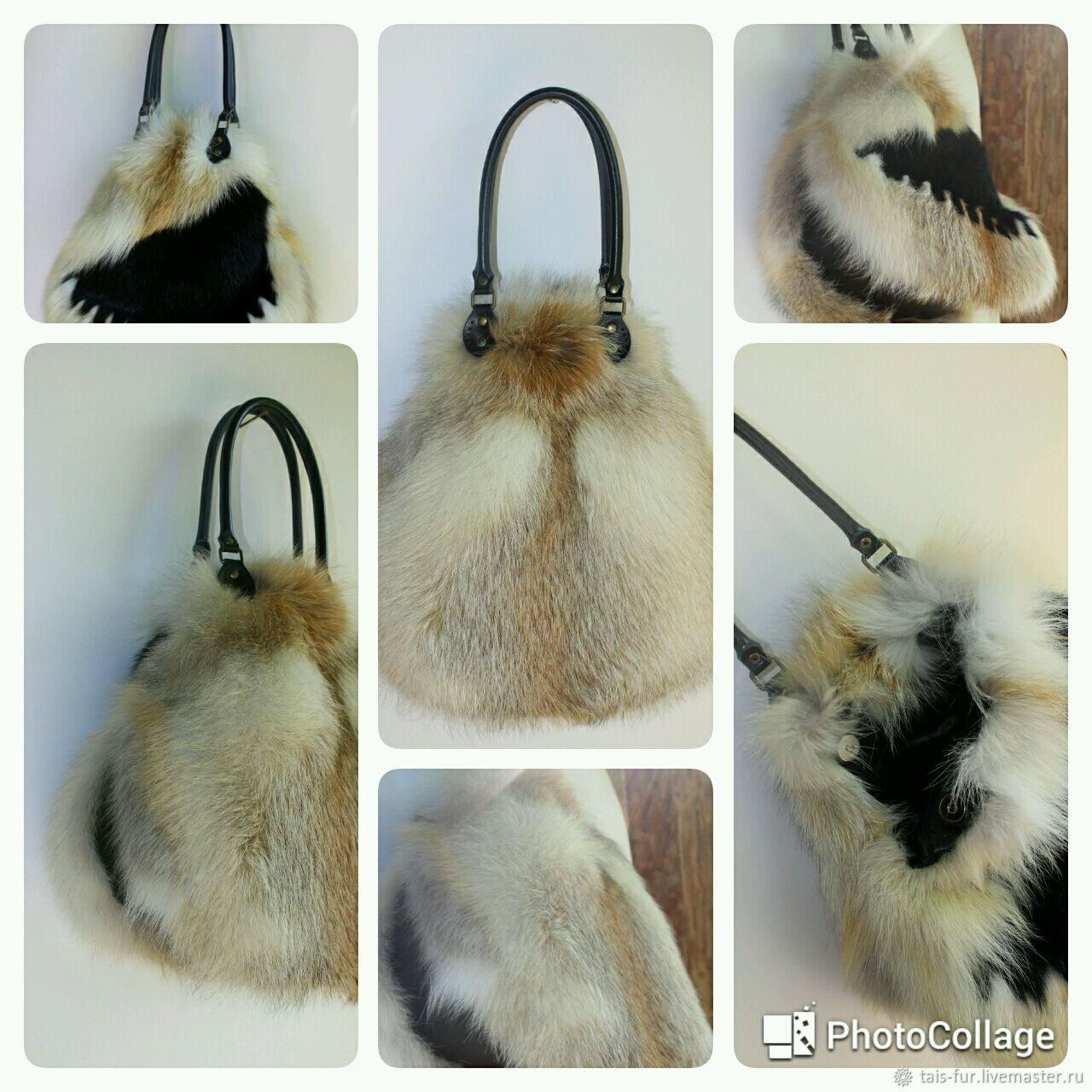 2e14198c5818 Женские сумки ручной работы. Сумка из лисы с декором.Сумка из меха купить.