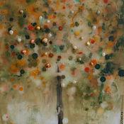 """Картины и панно ручной работы. Ярмарка Мастеров - ручная работа Энкаустическая живопись """"Яблочное время"""". Handmade."""