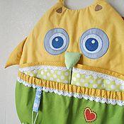 Работы для детей, handmade. Livemaster - original item Pocket organizer on the bed OWL. Handmade.