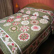 Для дома и интерьера ручной работы. Ярмарка Мастеров - ручная работа Покрывало Цветочная поляна. Handmade.