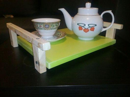 Кухня ручной работы. Ярмарка Мастеров - ручная работа. Купить Чайный поднос. Handmade. Чайный поднос, для чаепития, дерево