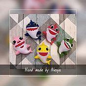 Мягкие игрушки ручной работы. Ярмарка Мастеров - ручная работа Семья акул Baby Shark. Handmade.
