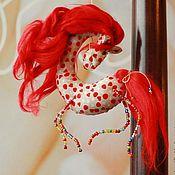 Куклы и игрушки ручной работы. Ярмарка Мастеров - ручная работа лошадки 2014 текстильные. Handmade.