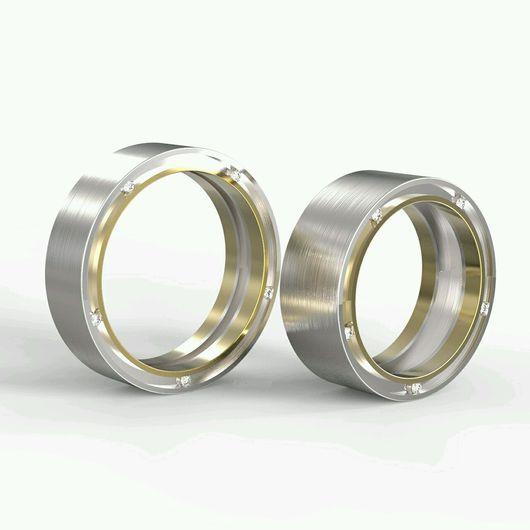 """Свадебные украшения ручной работы. Ярмарка Мастеров - ручная работа. Купить Обручальные кольца """"Смысл жизни"""" из золота с бриллиантами. Handmade."""