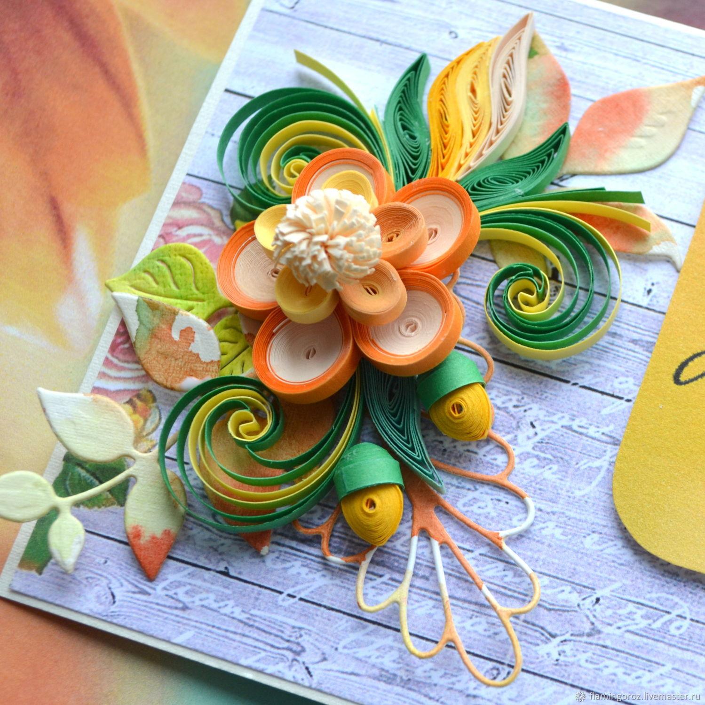 Открытки в стиле квиллинг с днем учителя, открытки другу открытка