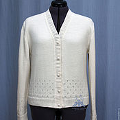 Одежда handmade. Livemaster - original item Cardigan knitted women Jan, hair. Handmade.