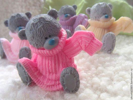 """Мыло ручной работы. Ярмарка Мастеров - ручная работа. Купить Мыло """"Тедди в свитере"""". Handmade. Серый, тедди мыло, подарок"""