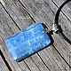 pendant with agate on a leather cord 'blue sky'. Pendants. Author studio Kamelya - Polina. Online shopping on My Livemaster.  Фото №2