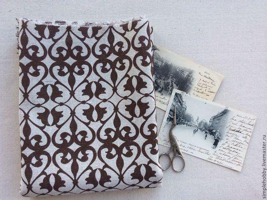 """Шитье ручной работы. Ярмарка Мастеров - ручная работа. Купить Ткань лен """"Византия"""". Handmade. Коричневый, ткань для пэчворка"""