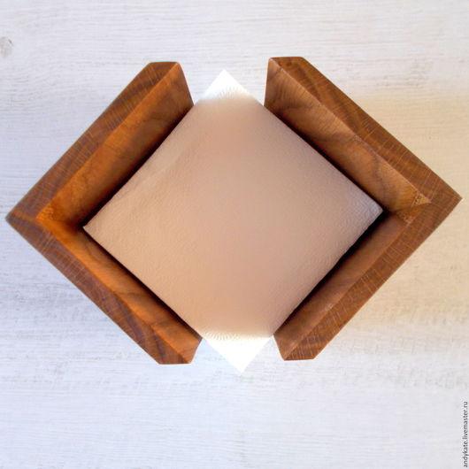 Деревянная салфетница из дуба (тон `натуральный`)