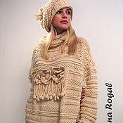 """Одежда ручной работы. Ярмарка Мастеров - ручная работа """"ЗИМНИЙ ЦВЕТ"""" свитер-платье. Handmade."""