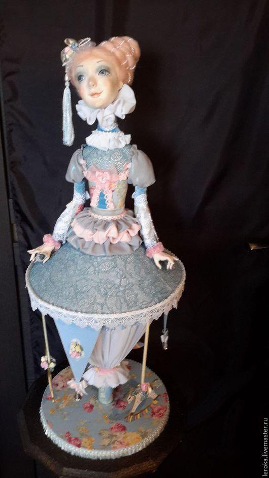 """Коллекционные куклы ручной работы. Ярмарка Мастеров - ручная работа. Купить Кукла-карусель""""Танец цветов"""". Handmade. Голубой, розовый, рюши"""