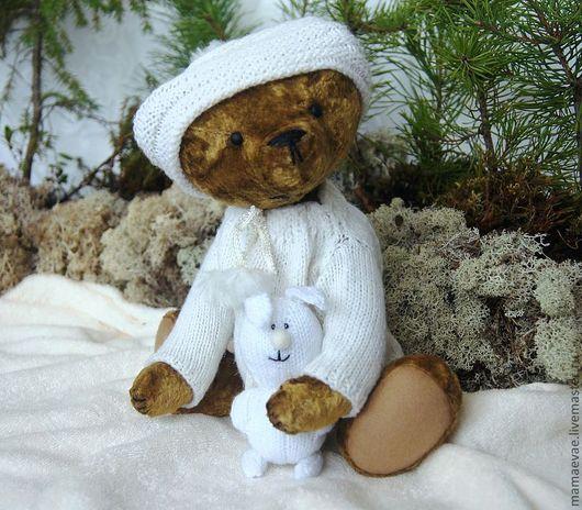 Мишки Тедди ручной работы. Ярмарка Мастеров - ручная работа. Купить Зима  пришла . Мишка тедди с маленьким другом. Handmade.