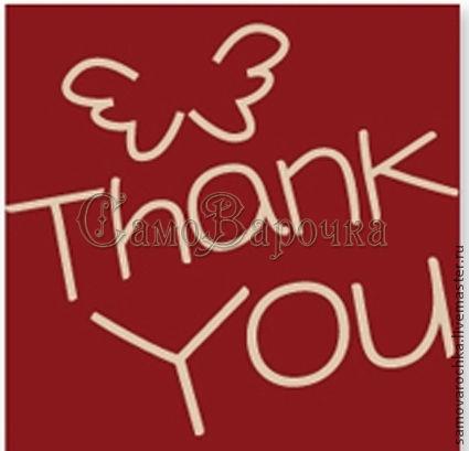 """Упаковка ручной работы. Ярмарка Мастеров - ручная работа. Купить Наклейка """" Thank you"""", 10 шт/уп. Handmade. Наклейка"""