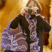 Сумки и аксессуары ручной работы. Ярмарка Мастеров - ручная работа Комплект сумка и шарф. Handmade.
