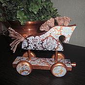 """Куклы и игрушки ручной работы. Ярмарка Мастеров - ручная работа Интерьерная игрушка лошадка """"Бирюза"""". Handmade."""