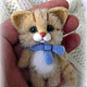 Котик в голубом шарфике,брошь, Брошь-булавка, Ижевск,  Фото №1