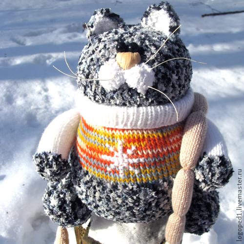 Игрушки животные, ручной работы. Ярмарка Мастеров - ручная работа. Купить кот Максимилиан (крупная игрушка) вязание. Handmade. Кот
