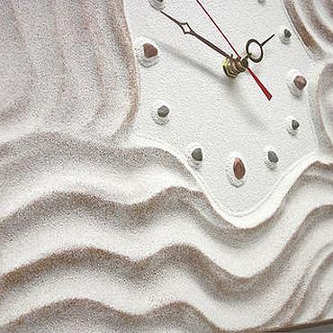 """Для дома и интерьера ручной работы. Ярмарка Мастеров - ручная работа """"БАРХАТНЫЕ ТЕНИ"""" из песка часы авторские. Handmade."""