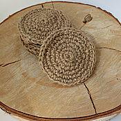 Для дома и интерьера handmade. Livemaster - original item Jute fiber sponge