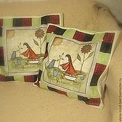 """Для дома и интерьера ручной работы. Ярмарка Мастеров - ручная работа Чехлы на подушки """"Sewing-maid"""". Handmade."""
