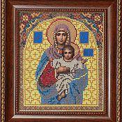 """Картины и панно ручной работы. Ярмарка Мастеров - ручная работа Икона бисером """"Пресвятая Богородица"""". Handmade."""