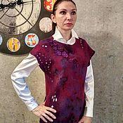 """Одежда ручной работы. Ярмарка Мастеров - ручная работа Туника валяная """"Ягодный мусс"""" нуновойлок. Handmade."""