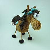 Куклы и игрушки ручной работы. Ярмарка Мастеров - ручная работа Лошадка Цаца с веночком или в шляпе. Handmade.