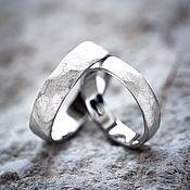 """Кольца ручной работы. Ярмарка Мастеров - ручная работа Обручальные кольца """"Земля любви"""". Handmade."""