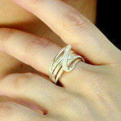 Украшения handmade. Livemaster - original item Ring of silver 925 with zircons. Handmade.