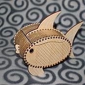 Для дома и интерьера ручной работы. Ярмарка Мастеров - ручная работа Шкатулка Рыбка. Handmade.
